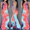 Letní zajímavé batikované maxišaty