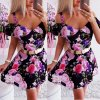 EXKLUZIVNÍ květované šaty s odhalenými rameny