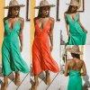 Lehounké letní barevné šaty