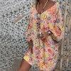 Stylové barevné plus size bohémské šaty