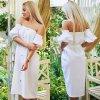 Letní romantické propínací midi šaty
