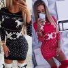 Dámské pletené vánoční šaty