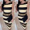 Letné šaty s reťazami