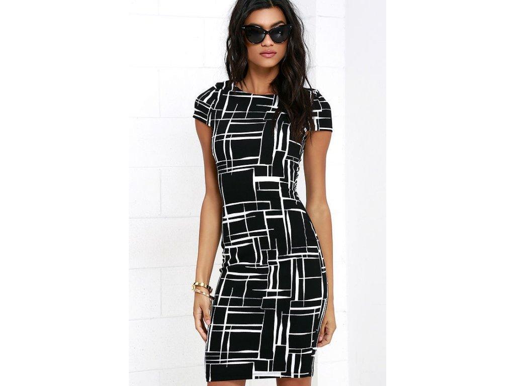 1e412def5971 Dámske šaty na telo sa vzorom - OBLECSITO.SK