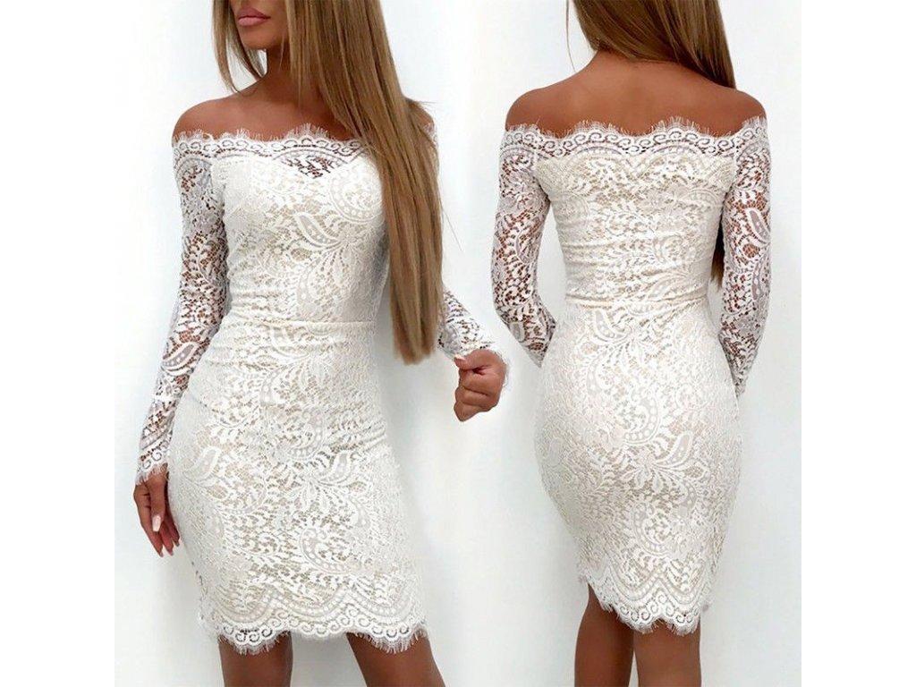 Luxusné dámske mini šaty s dlhým rukávom - OBLECSITO.SK 4755ace1283