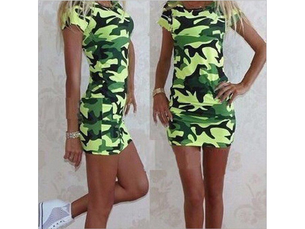 fdc2bef57e6f Dámske mini army šaty - OBLECSITO.SK