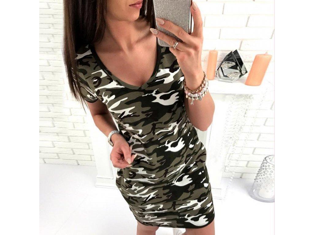 Maskáčové letné dámske šaty - 2 farby - OBLECSITO.SK 8090dd70835