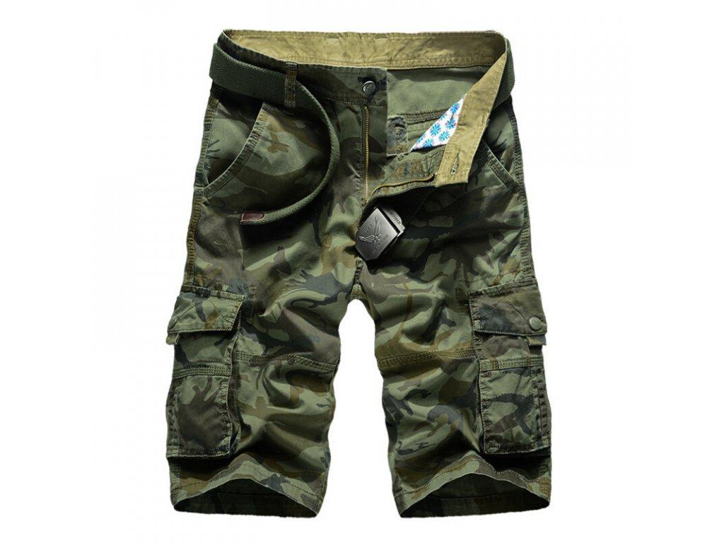 9104131e011 Pánske maskáčové kraťasy   trištvrťové nohavice - OBLECSITO.SK