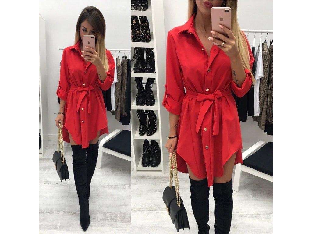 7d1165ceb7bd Košeľové šaty s mašľou - OBLECSITO.SK
