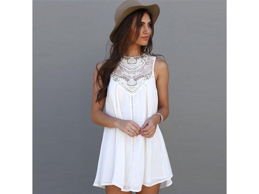 a4c5e678b126 Biele krajkové šaty - OBLECSITO.SK