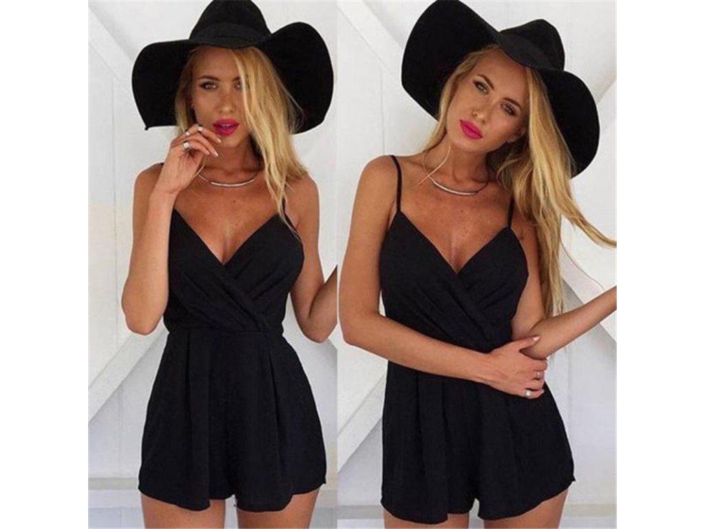 3f1c32a81a44 Krátke čierne šaty na leto - OBLECSITO.SK