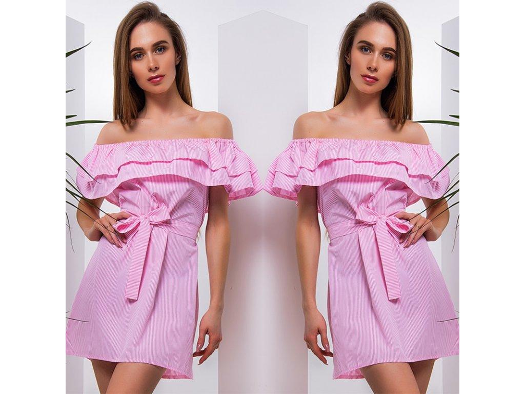 995a4b7bdb44 Letné šaty s odhalenými ramenami - OBLECSITO.SK
