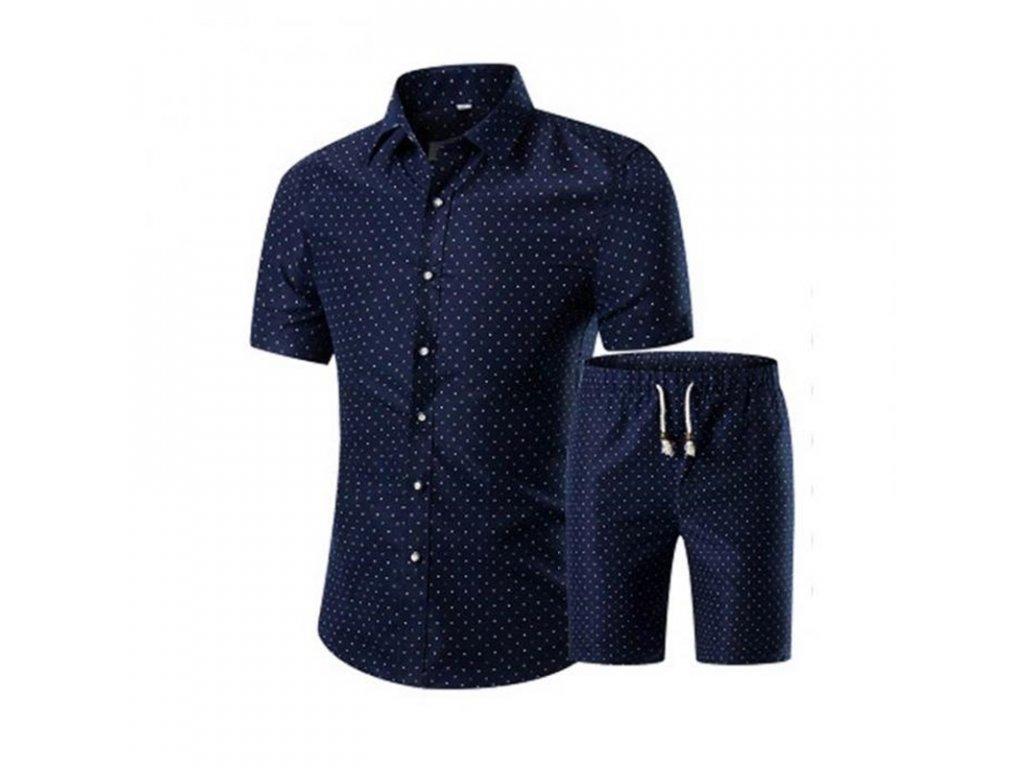 fc182fa773fd Pánsky košeľový letné set - košeľa + kraťasy - OBLECSITO.SK