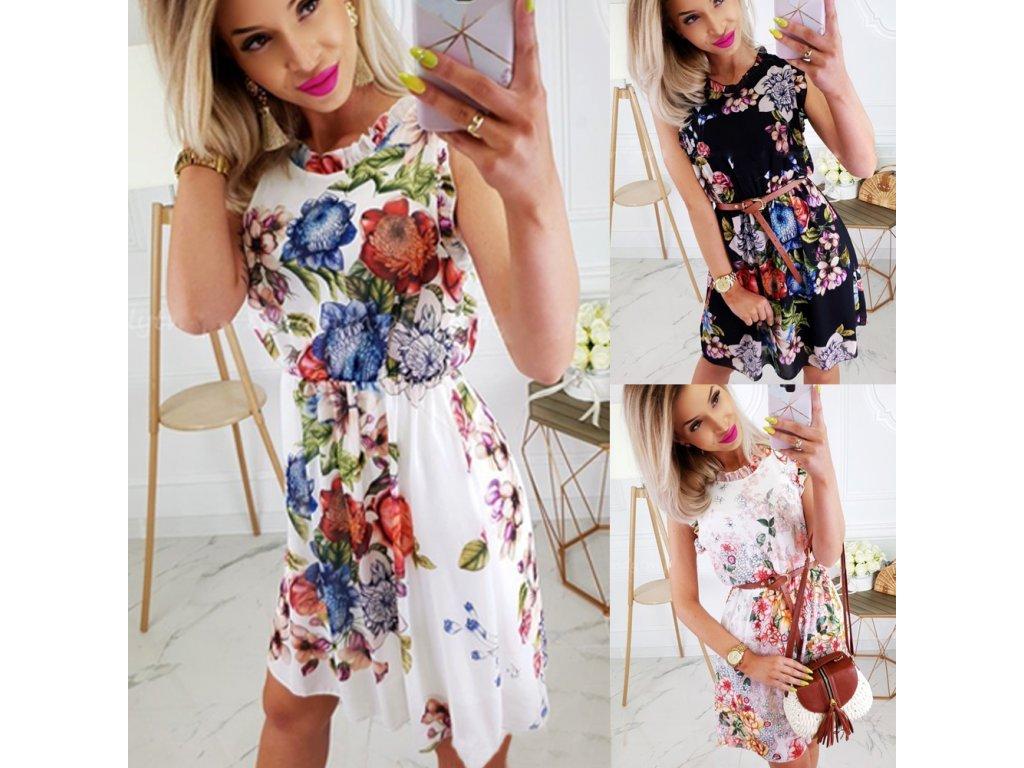 454e0d60c Dámske letné kvetinové šaty - OBLECSITO.SK