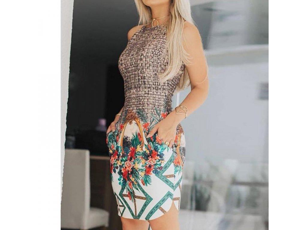 0a1d46945 Midi letné šaty s potlačou - OBLECSITO.SK