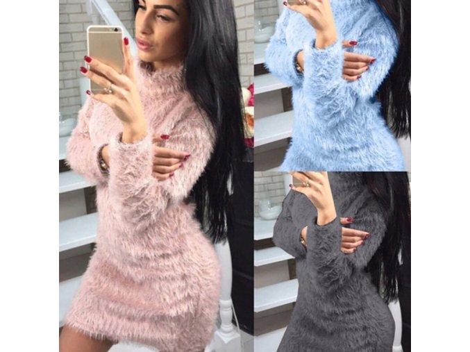 Dámske štýlové hrejivé šaty - 3 farby