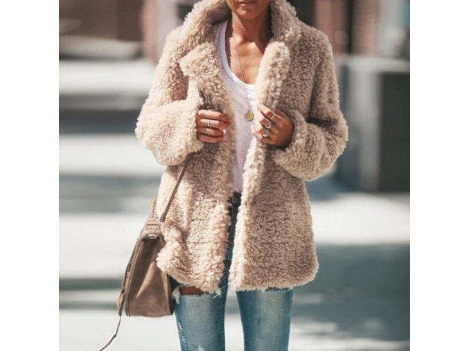 Štýlový chlpatý jesenný kabátik - 5 farieb