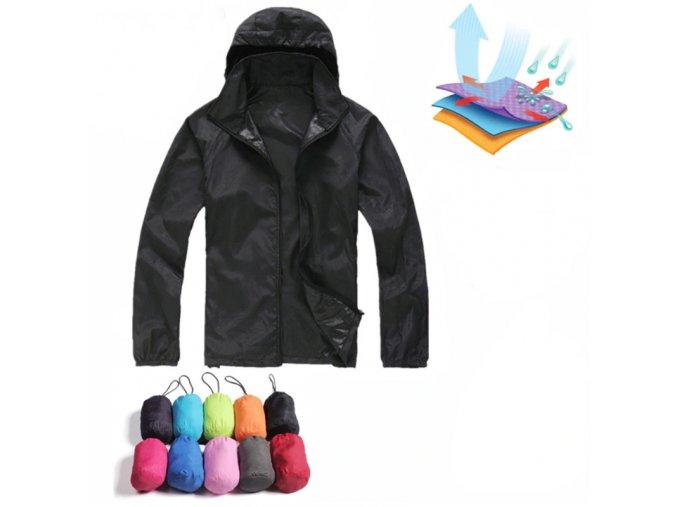 Unisex jesenná nepremokavá hydrofóbna bunda