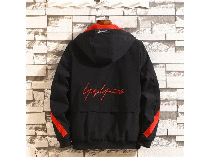 Pánska jesenná bunda s nápisom na chrbte