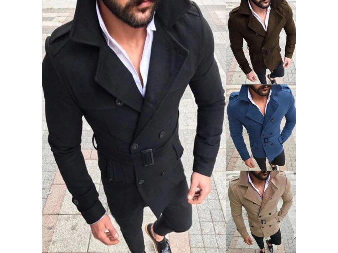 Pánsky luxusný elegantný kabát