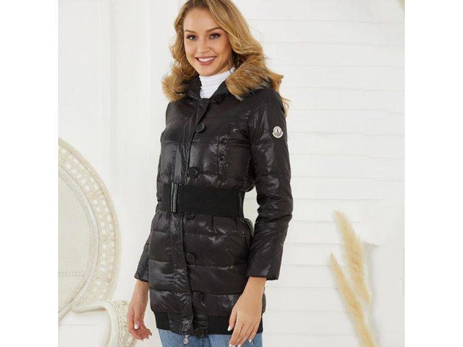 Dámsky zimný kabát s kožušinou