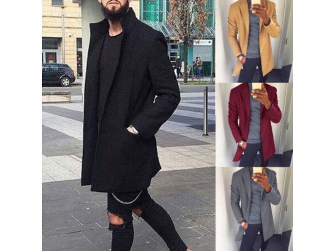 Pánsky ľahký elegantný kabát