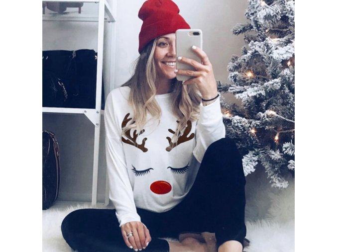 Dámske bavlnené tričko s vianočným motívom
