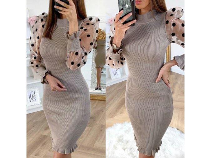 Dámske zaujímavé šaty s bodkami