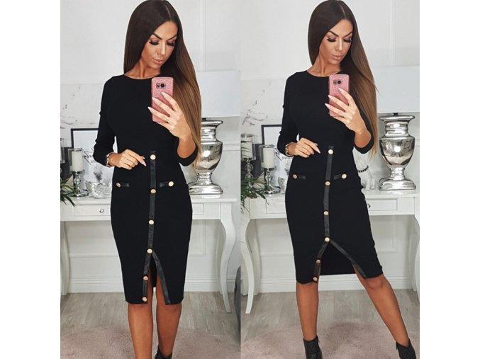 Dámske elegantné čierne šaty