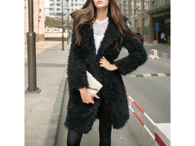 Dámsky teplý huňatý kabát - 3 farby