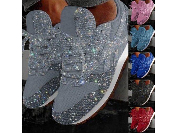 Dámske trblietavé športové topánky