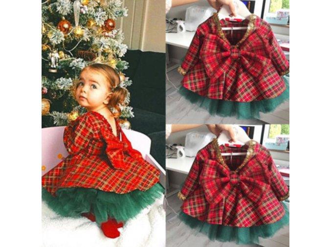Dievčenská slávnostná vianočná súprava - spodnička + šatičky