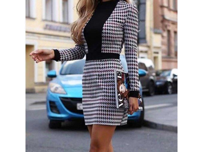 Dámske black and white šaty
