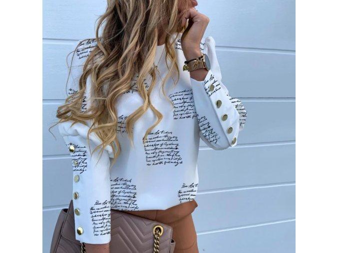 Dámska luxusná blúzka s nápismi