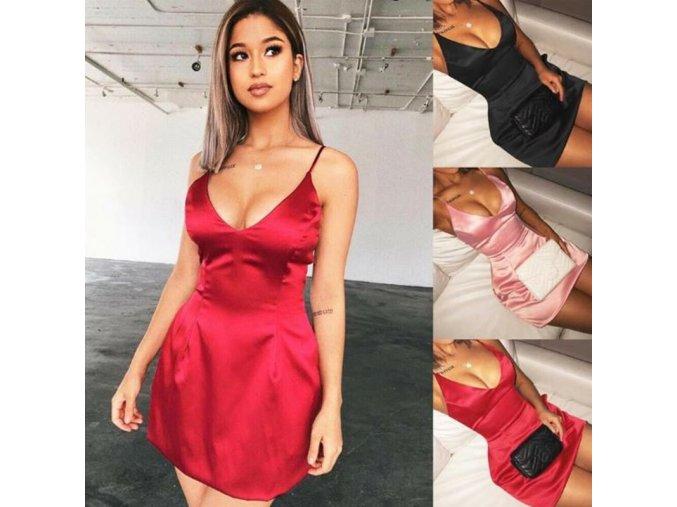 Saténové šaty so zipsom