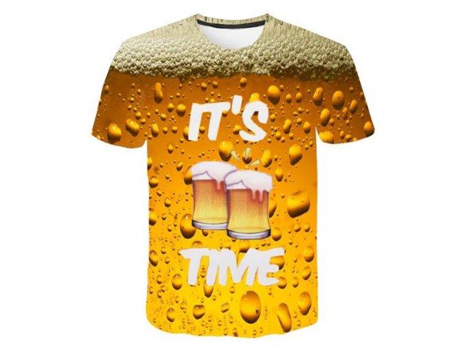 Pánske tričko '' je čas na pivo ''