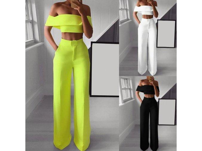 Dámsky módny set vysokej nohavice + top