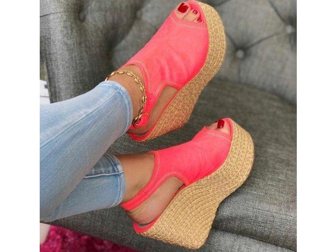 Dámske letné topanky na kline viac farieb