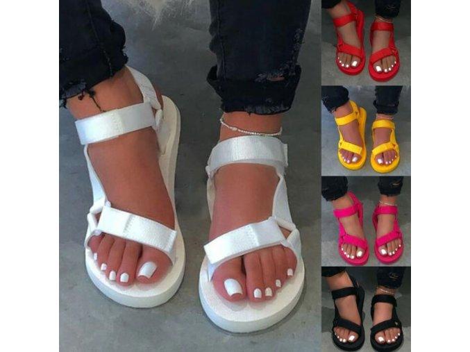 Dámske pohodlné jednofarebné sandále - viac farieb
