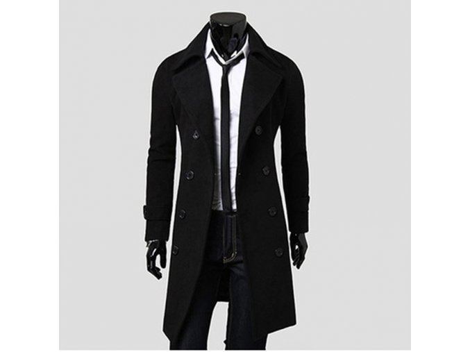 Mens Trench Coat 2017 New Fashion Designer Men Long Coat Autumn Winter Double breasted Windproof Slim1