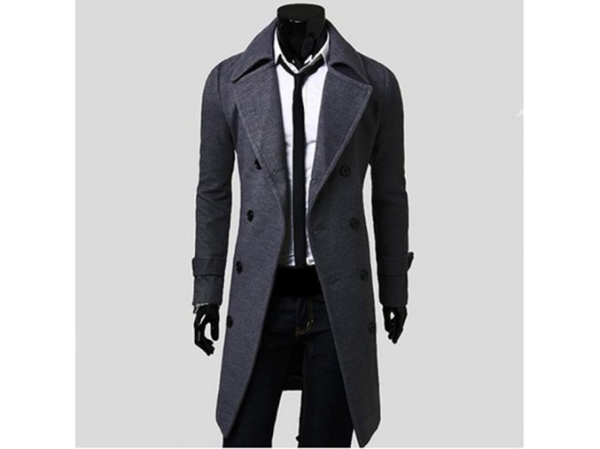 Mens Trench Coat 2017 New Fashion Designer Men Long Coat Autumn Winter Double breasted Windproof Slim