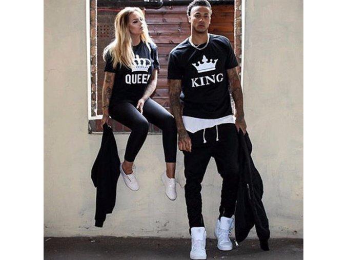 Čierne King / Queen trička