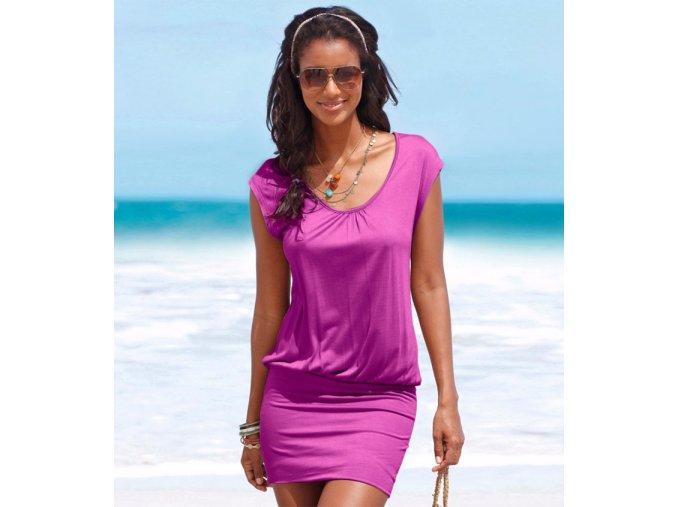 Štýlové dámske fialové mini šaty