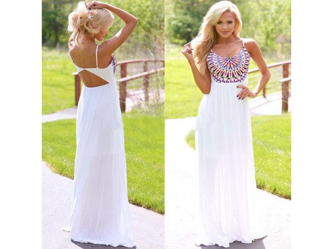 Luxusné dámske plážové dlhé šaty