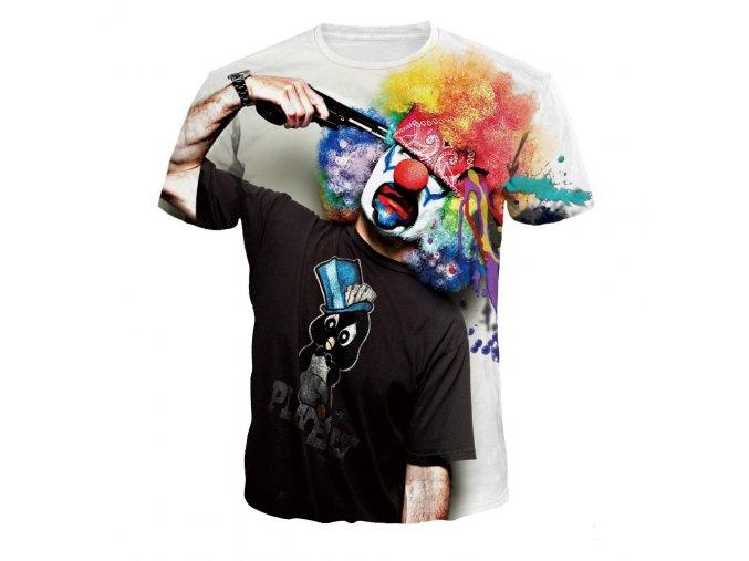 Pánske tričko s klaunom