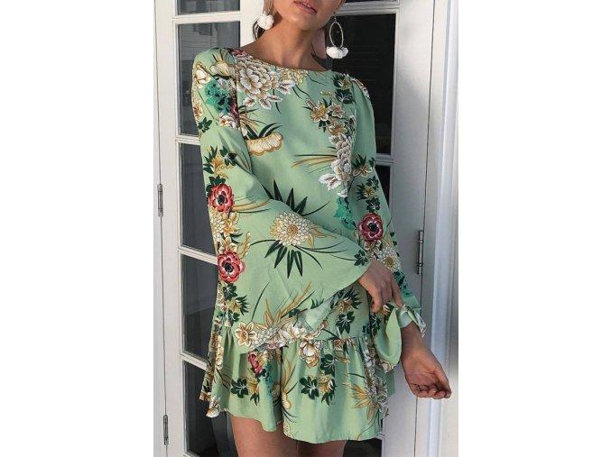 Dámske retro kvetované šaty