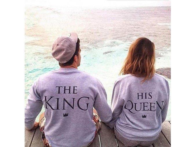 King + Queen štýlový top