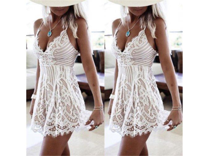 Sexy dámske letné krajkové mini šaty