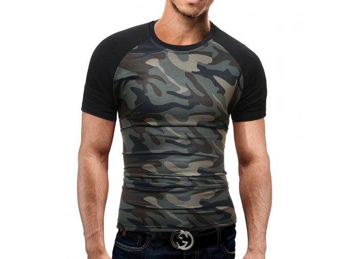 Štýlové army slim triko