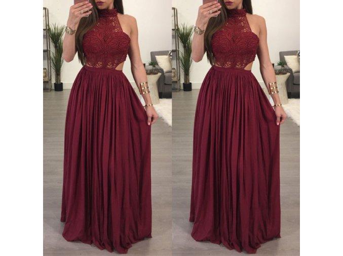 Plesové dlhé večerné šaty